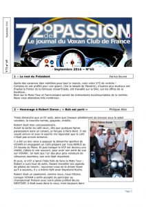 thumbnail of V72 N°65 Septembre 2016