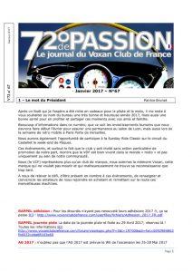 thumbnail of V72 N°67 Janvier