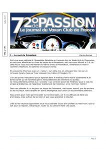 thumbnail of V72 N°70 Juillet