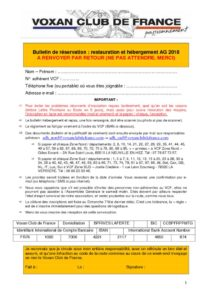 thumbnail of Bulletin de réservation – AG VCF 2018