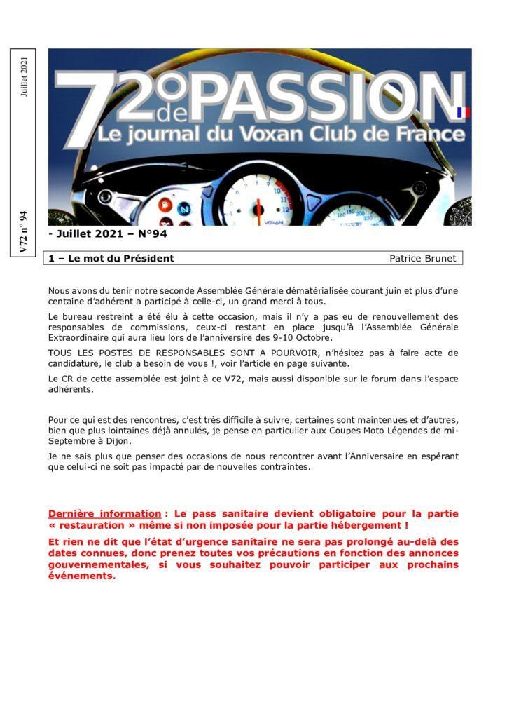 thumbnail of V72 N°94 Juillet
